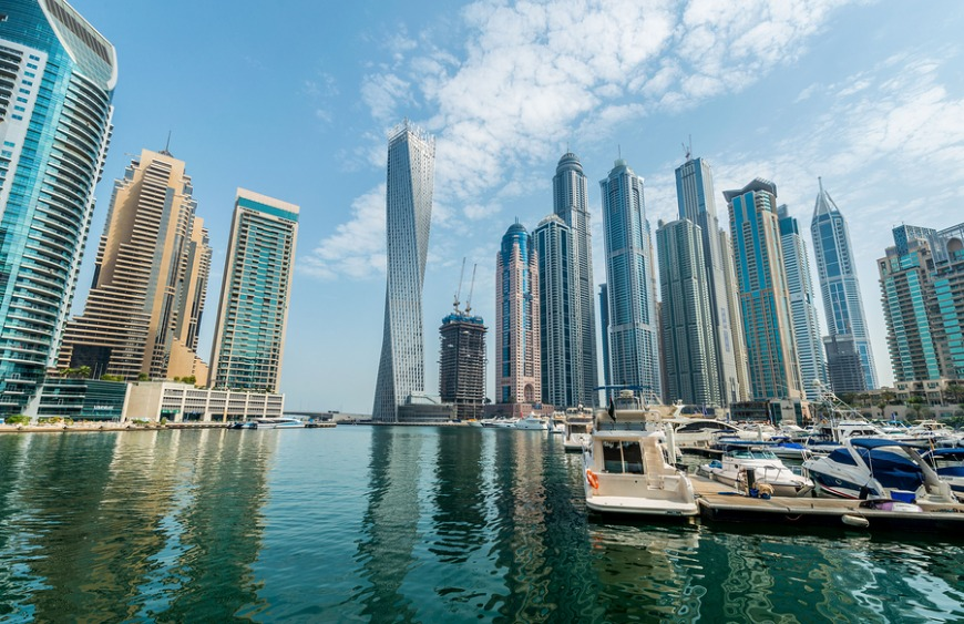 The best Dubai tourist attractions: Dubai Marina